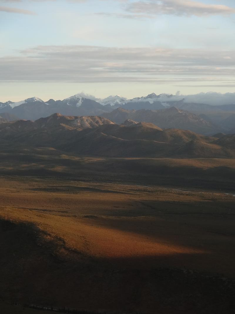 sunset in denali